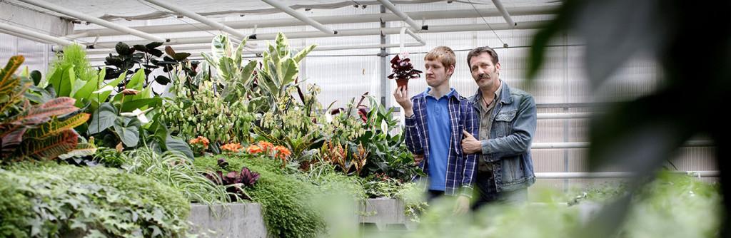 Gerco Mulder, docent en begeleider, en Nathan Vogelzang, leerling, De Ambelt, MBO Groen (VSO), Zwolle